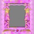 Violet frame with florets Royalty Free Stock Photo