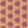 Violet geometric pattern beige Immagine Stock Libera da Diritti