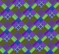Violet-green plaid fabric Royalty Free Stock Images