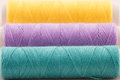 Violet and green thread Royalty Free Stock Photos