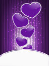 Violet hearts on  abstract  background Royalty Free Stock Image