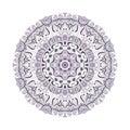 Violet mandala on a white background Stock Photography