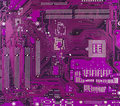 Violet motherboard surface Royalty Free Stock Photo