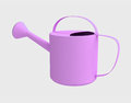 Violet painted ewer flower watering tool Stock Photography