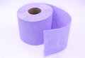 Violet purple toilet paper Royalty Free Stock Photo