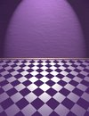 Violet room illustration of wall plaster and floor Stock Images