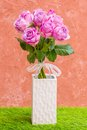 Violet rose in vase Royalty Free Stock Photography