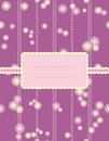 Violet scrapbook with flowers Royalty Free Stock Photography