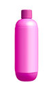 Violet shampoo dispenser pump plastic bottle Royalty Free Stock Photo