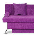 Violet sofa on white Royalty Free Stock Photos