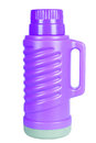 The violet thermos isolated on white background Stock Photography