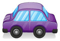 A violet toy car illustration of on white background Royalty Free Stock Image