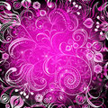 Violet vivid  floral frame Royalty Free Stock Photos