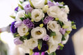 Violet Wedding Bouquet Royalty-vrije Stock Fotografie