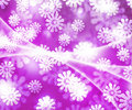 Violet Winter Bokeh Background Stock Photo