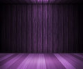 Violet wooden interior background Imagens de Stock Royalty Free