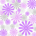 Violets floral pattern Stock Photo