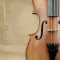 Violin with background decoration Royalty Free Stock Images