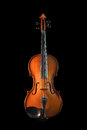 Violin on a black background Stock Photography