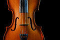Violin on a black background Royalty Free Stock Images