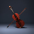Violin and Bow Royalty Free Stock Photo