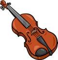 Violin Cartoon Illustration Cl...