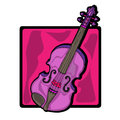 Violin clip art Royalty Free Stock Photography