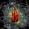 Violin design in painterly format Stock Photography