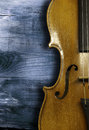 Violin detail of old on a colored background repair old violins Royalty Free Stock Image