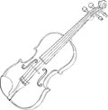 Violin Drawing Stock Image