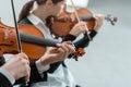 Violin duet performance Royalty Free Stock Photo