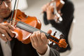 Violin duet performance Royalty Free Stock Photo
