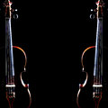 Violin duet. Two violins Royalty Free Stock Photo