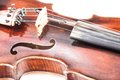 Violin or fiddle from the front side Royalty Free Stock Photo