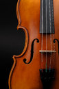 Violin front view cropped Stock Photo