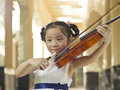 Violin girl Stock Image