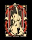 Violin hand draw