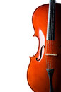 Violin isolated on the white background Stock Photos