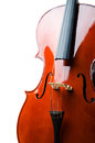Violin isolated on the white background Royalty Free Stock Photo
