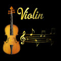 Violin and music note