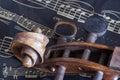 Violin and music sheet Royalty Free Stock Photo