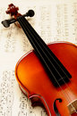 Violin with music sheet Stock Photo