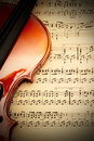 Violin with music sheet Royalty Free Stock Photo