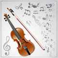 Violin. Musical background Stock Photos