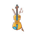Violin. Musical instrument. Child`s toy.