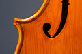 Violin part on black wooden background macro Royalty Free Stock Photos