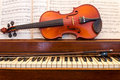 Violin and Piano With Music Royalty Free Stock Photo