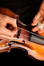 Violin repairs Royalty Free Stock Photos
