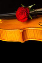 Violin sheet music and rose black composition still life Royalty Free Stock Photos