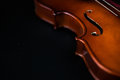 Violin Silouhette on dark background Royalty Free Stock Photo